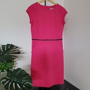 Hot pink dress with pockets